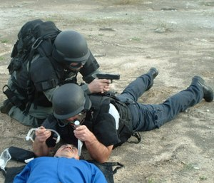 If you are a tactical medic, you must physically train for the fight and rescue. It's coming! Are you fit for it? (Photo/City of League City)
