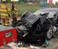 Investigation launched after Tesla crashes into Utah fire truck