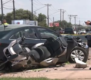 The officer who was injured in the crash has taken a turn for the worst and is in critical condition. (Photo/YouTube)