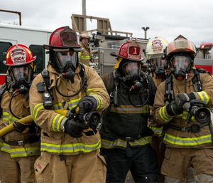 Firefighters gear up for training at the MAAC emergency services training facility. (Photo/The Multi Agency Academic Cooperative Foundation)