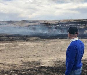 """The U.S. Environmental Protection Agency has taken command of a Fountain-area tire fire that is emitting """"extremely poisonous"""" smoke. (Photo/El Paso County)"""