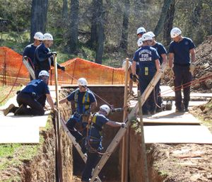 Dr. Cushman noted there are obvious priorities during a trench or collapse rescue. (Photo/City of Asheville)