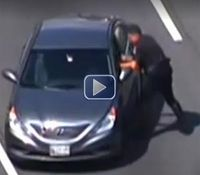 Video: DUI suspect strikes cop directing traffic, scuffle ensues