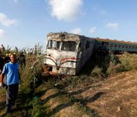 43 dead, 22 injured in train collision in northern Egypt