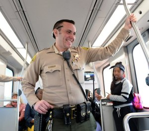 Los Angeles County Sheriff's Deputy Austin Guastialli is one of a dozen known transgender deputies in the department (Photo by Axel Koester, Los Angeles Daily News)