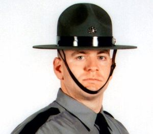In this undated photo released by the Pennsylvania State Police, Cpl. Seth J. Kelly, is shown. (Pennsylvania State Police via AP Photo)