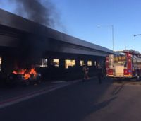 Suspect lights firefighter's personal truck on fire in front of station