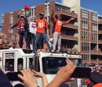 Was fire truck rooftop ride for Broncos safe?