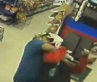 Video: Texas firefighter takes down armed robber