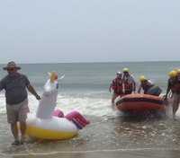 NC water rescue team saves boy, 8, on unicorn float half-mile out to sea