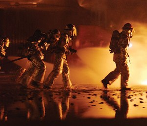 Of the 294 firefighters were asked to track their pain over a 13-month period, seventy percent of firefighters had experienced pain in their limbs and back. (Photo/Univ. of Western Ontario)