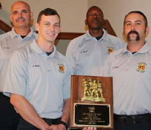 Lt. John Herpin (far right) said he was honored and humbled to have been selected for the award. (Photo/Valdosta Fire Department)