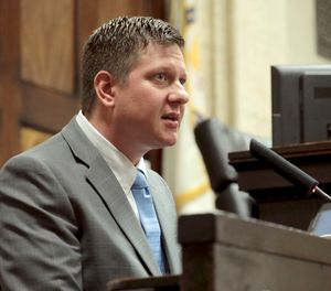 Chicago police Officer Jason Van Dyke takes the stand in his murder trial Tuesday Oct. 2, 2018 for the shooting death of Laquan McDonald, in Chicago. (Antonio Perez/Chicago Tribune via AP, Pool)