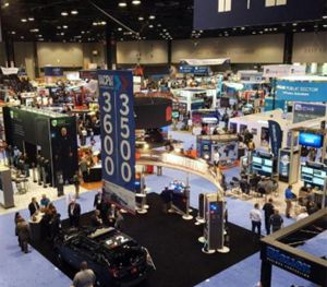 Vendors demonstrate their products at IACP 2015. (PoliceOne Image)