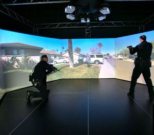 Simulators combine aspects of range training and classroom learning to allow officers to become more proficient in these areas. (Photo/Courtesy)