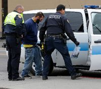 Can the number of police officers executing a warrant constitute excessive force?