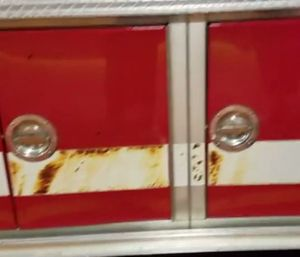 Blistered paint can be seen on the fire truck, which also had melted tires and pump panel damage. (Photo/Watervliet Fire Department)
