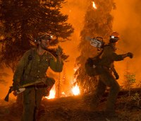 Why are civilians fighting wildland fires?
