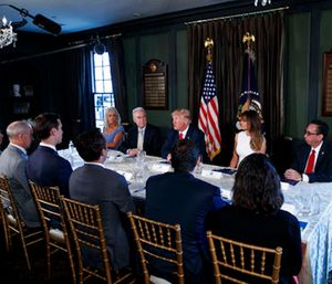 President Donald Trump speaks during a briefing on the opioid crisis at Trump National Golf Club in Bedminster, N.J. (AP Photo/Evan Vucci)