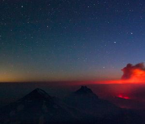 A plume of smoke rises from a wildfire. (Fedor Zarkhin/The Oregonian via AP)