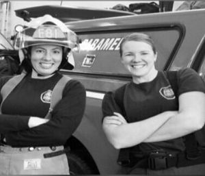 Spokane County Fire District 8 made history when the first all-female team ran the paramedic unit. (Photo/SCFD8)
