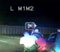 Video: Texas cop goes head-to-head with wrong-way driver