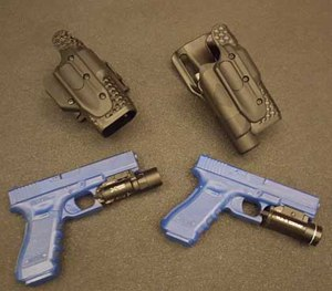 Perhaps the most intriguing element to the XCALIBUR system is the innovative retention. (PoliceOne Image)