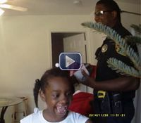 Video: Fla. cops surprise family in need with Christmas tree