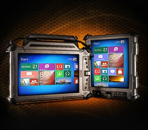 Tablets soon will replace mounted laptops. (Image Xplore Technologies)