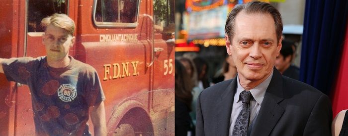 Buscemi with the FDNY and now.