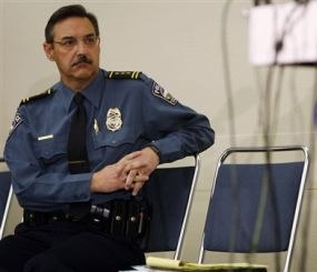Richard Myers made a career out of listening to the community he served, whether Sanford (Fla.) or Colorado Springs, pictured, where he helped the city deal with the 2007 shooting at New Life Church. (AP Photo/David Zalubowski)