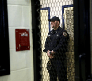 Less lethal devices are extremely important to help ensure the safety of correctional officers. (AP Photo/Seth Wenig)