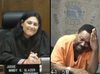 Courtroom school reunion between judge, suspect