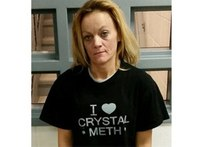 Woman wearing 'I Love Crystal Meth' shirt arrested for meth