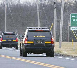 More State Troopers arrive on scene as all Delaware prisons went on lockdown late Wednesday due to a hostage situation unfolding Wednesday, Feb. 1, 2017, at the James T. Vaughn Correctional Center in Smyrna, Del. (Suchat Pederson/The Wilmington News-Journal via AP)