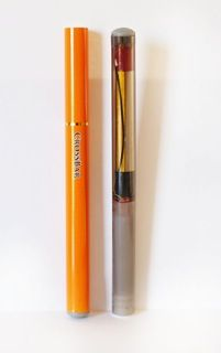 The 'Corrections Orange' and clear e-cgiarettes available from CrossBar. (Image Crossbar)