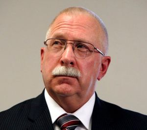 This Aug. 19, 2010 file photo shows Arizona Department of Corrections Director Charles Ryan at a news conference in Phoenix. (AP Photo/Ross D. Franklin, File)