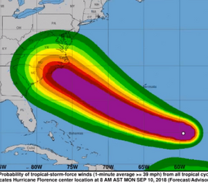 Inmates and staff at RCI will stay behind during Hurricane Florence. (Photo/National Weather Service)