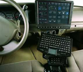 iForce is a Linux-based, high-assurance computer that allows users to control all vehicle electronics such as lights, sirens, radios, radar, and video cameras. It is also clean, compact, elegant, ergonomic, and rugged. (Image by Rockwell Collins)