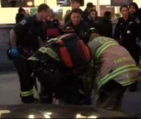 Man hit by subway after defecating between cars