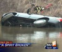 Woman who drove into pond dies after 911 call not put in system