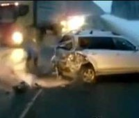 Video: Baby flung from car, escapes death twice