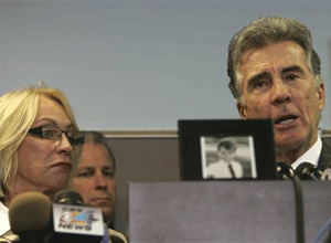 John Walsh and Reve Walsh talk about their son, Adam, during a press conference in Hollywood, Fla. Tuesday, Dec. 16, 2008. (AP Photo)