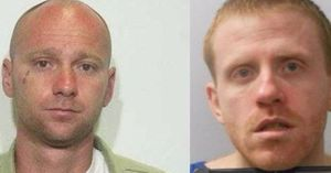 Jason Norris, left, and Anthony Drury escaped from the Bell County Forestry Camp near Pineville on Sunday. (Photo/Kentucky State Police)