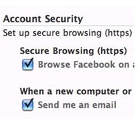 Facebook secure browsing for officer safety
