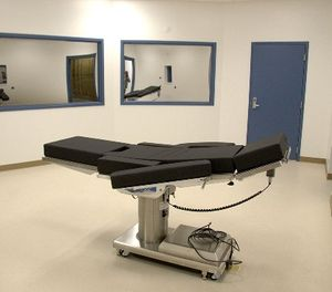 This Nov. 10, 2016, file photo released by the Nevada Department of Corrections shows the newly completed execution chamber at Ely State Prison in Ely, Nev. (Nevada Department of Corrections via AP, File)