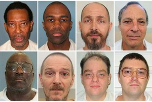 This combination of photos provided by the Alabama Department of Corrections in August 2018 shows some of the state's death row inmates who are asking to have their executions carried out by nitrogen gas. (Alabama Department of Corrections via AP)