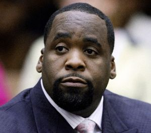 In this May 25, 2010 file photo, former Detroit Mayor Kwame Kilpatrick sits in a Detroit courtroom. (AP Photo/Paul Sancya, File)