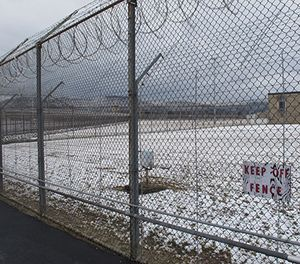 Snow blankets the grounds of the Southern Ohio Correctional Facility on Wednesday, March 6, 2013 in Lucasville, Ohio. (AP Photo/Andrew Welsh-Huggins)