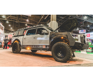 The F-511 truck at the Volant Performance booth at the SEMA Show.